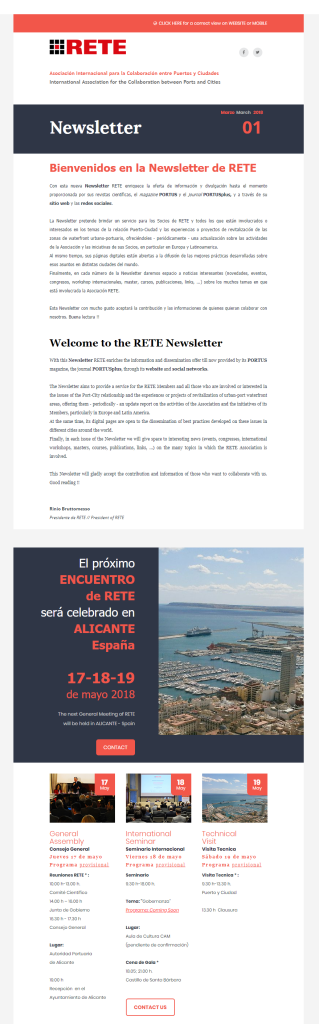 RETE - NEWSLETTER 01 - March 2018
